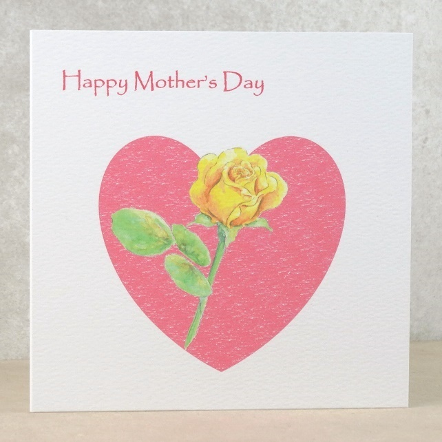 Mother's Day Card Rose Heart  (Ecofriendly)
