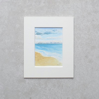 "Original Watercolour ACEO 'Summer' with mount (Mount size 5.25"" x 4.25"")"