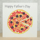 Father's Day card Pizza
