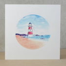 Blank card Lighthouse