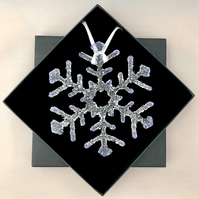 Lilac Tipped Ice Glass Snowflake