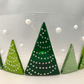 Christmas Tree Fused Glass Candle Screen