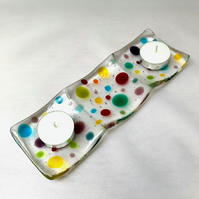 Polka Dot Candle or Trinket Tray