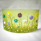 Summer Wild Flowers Meadow Glass Arch Screen