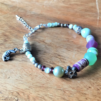 Upcycled beaded bracelet - junk jewellery
