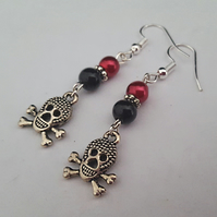 Skull and crossbone earrings