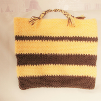 Hand Crocheted Hobby Bag