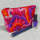 Make up bag, zipped pouch, cosmetic bag, floral