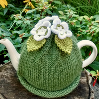Spring Apple Blossom Tea Cosy, Spring Flower Tea Cozy