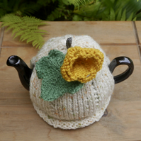 Small Pumpkin Tea Cosy, One Cup Pumpkin Flower Teapot Cosie