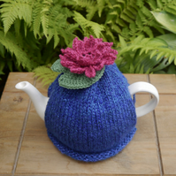 Water Lily Tea Cosy, Sparkly Lily Flower and Pad Tea Cozy