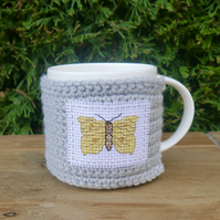 Yellow Butterfly Mug Cosy