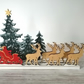 Wooden Christmas Scene Decoration