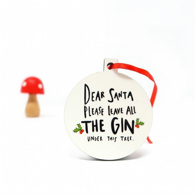 Gin Christmas decoration