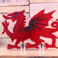 Welsh Dragon on Ash Stand