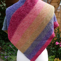 Multicoloured triangular scarf