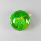 Medium Fantasy Round Cabochon in Green, hand made cabochon