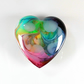 Large Fantasy Heart Cabochon in Green & Pink, hand made cabochons