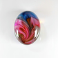 Large Fantasy Oval Cabochon in Pinks & Blues, hand made cabochons