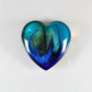 Large Fantasy Heart Cabochon in Blue & Green, hand made cabochons