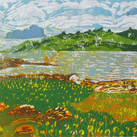 Isle of Mull, Scotland - Original Hand Pressed Linocut Print Ltd Edition