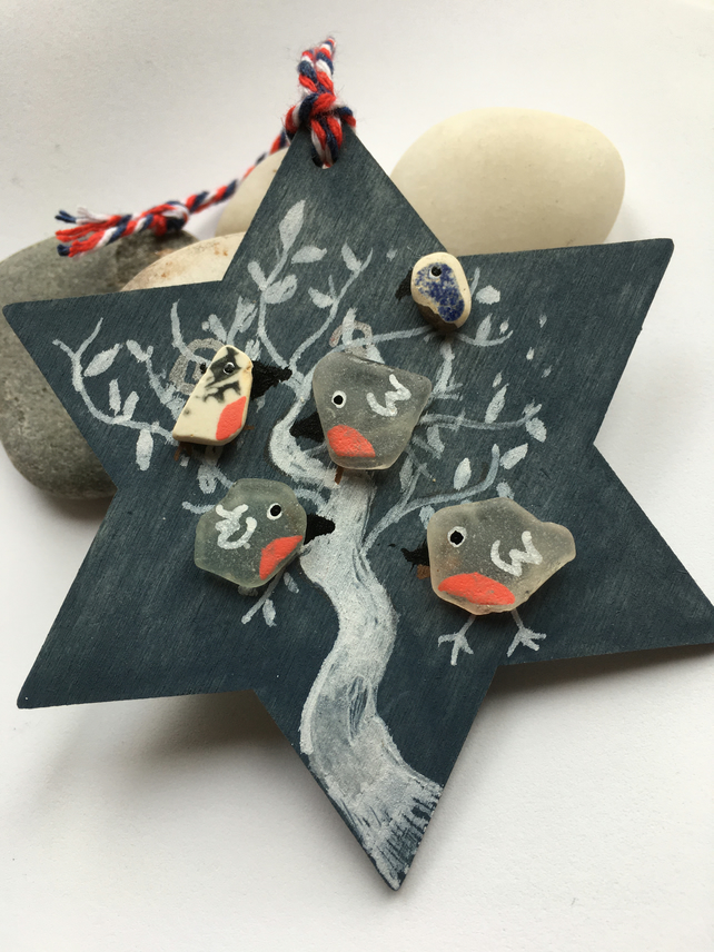 Little Robins Christmas Tree Decoration
