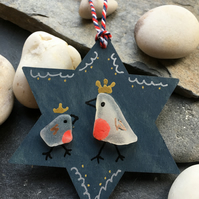 Robin Christmas Tree handmade eco friendly decoration