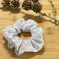 Ditsy Floral Pink Scrunchie Hair Bobble