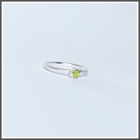 Peridot silver ring, birthstone for August