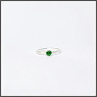Chrome diopside gemstone ring, Alternative for emerald