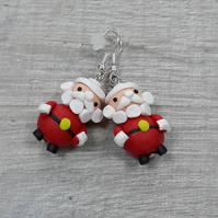 Chunky Father Christmas Polymer clay drops
