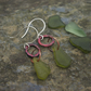 Green Welsh Sea Glass with  Copper Circles Dangle  Earrings