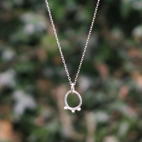 Small Silver  Seed Pod Necklace