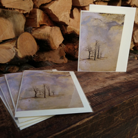 A6 pack of 5 Blank Tree, Woodland Christmas cards - Design, Weaving Magic