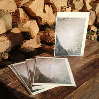A6 pack of 5 Blank Tree, Woodland Christmas cards, Approaching the pathless wood