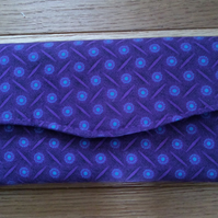 Purple shweshwe purse