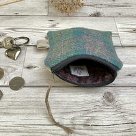 Harris Tweed and Scottish Linen Coin Purse, Credit Card Purse