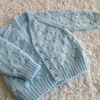 "16"" Baby Boys Knots V Neck Cardigan"