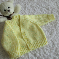 "14"" Newborn Boys Lemon Print V Neck Cardigan"