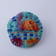 Beautiful Blue Handmade Brooch