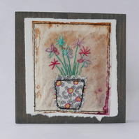 Embroidered Flowers Miniature Art