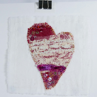 Heart Textile Art, Love Heart Gift