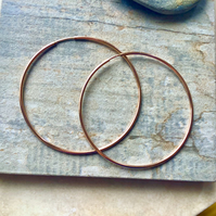 Rose Gold Filled 50mm Hoop Earrings