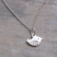 Sterling Silver Little Bird Pendant and Chain Necklace
