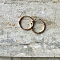 Rose Gold Filled 16mm Hoop Earrings