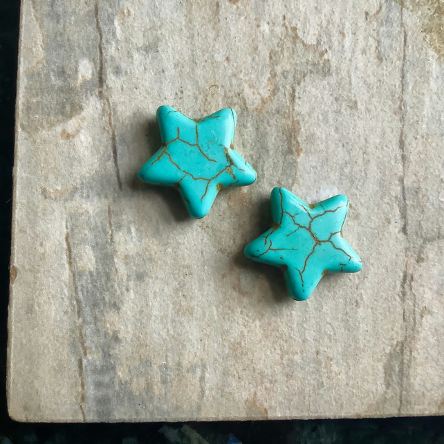 Turquoise Star Beads