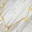 14K Gold Filled Star Drop Necklace