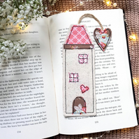 Tall house bookmark, quirky book lover gift