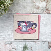 Tea cup coaster, tea lover gifts