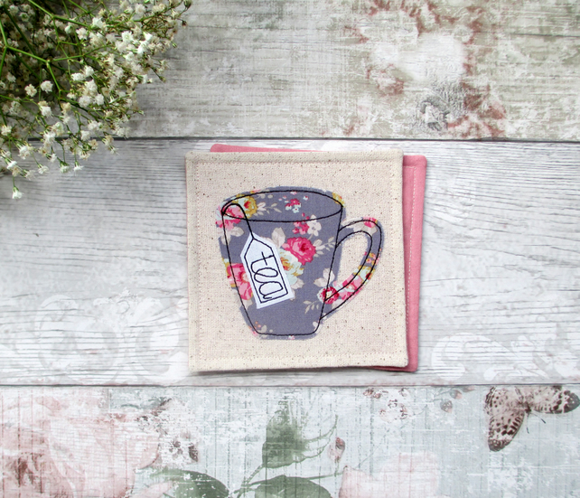 Tea mug coaster, gifts for tea lovers
